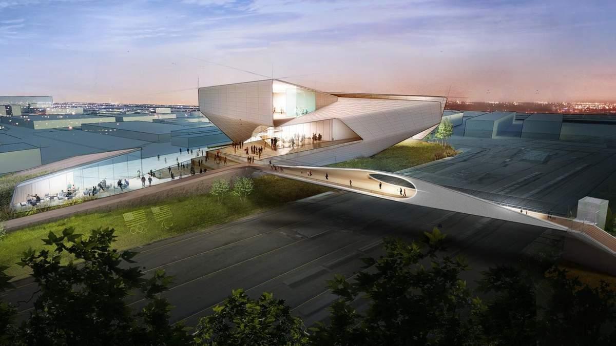 """Особенности модернизма: в США построят """"олимпийский"""" мост, что повторяет движений спортсменов"""