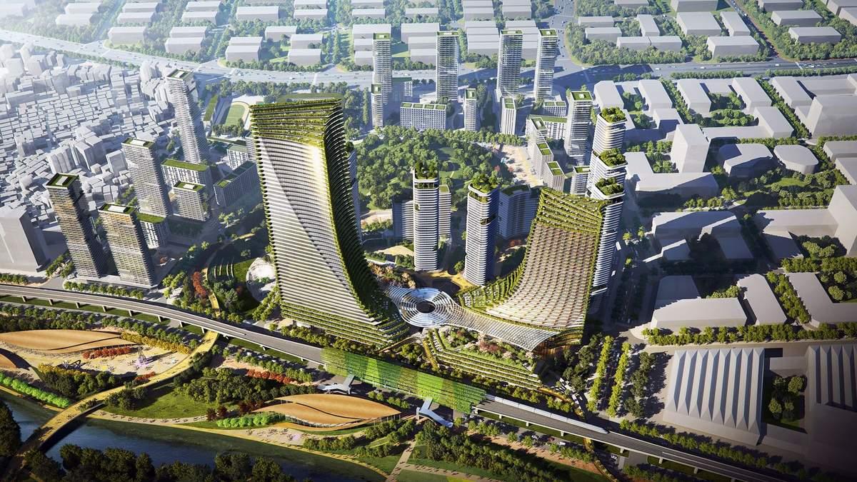Зелений центр міста: 12-мільйонне місто в Китаї планують кардинально осучаснити – фото