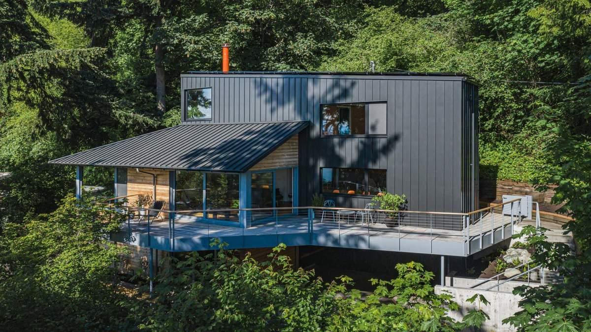 Японський дизайн та циркові намети: у США креативно відремонтували старий будинок в лісі – фото