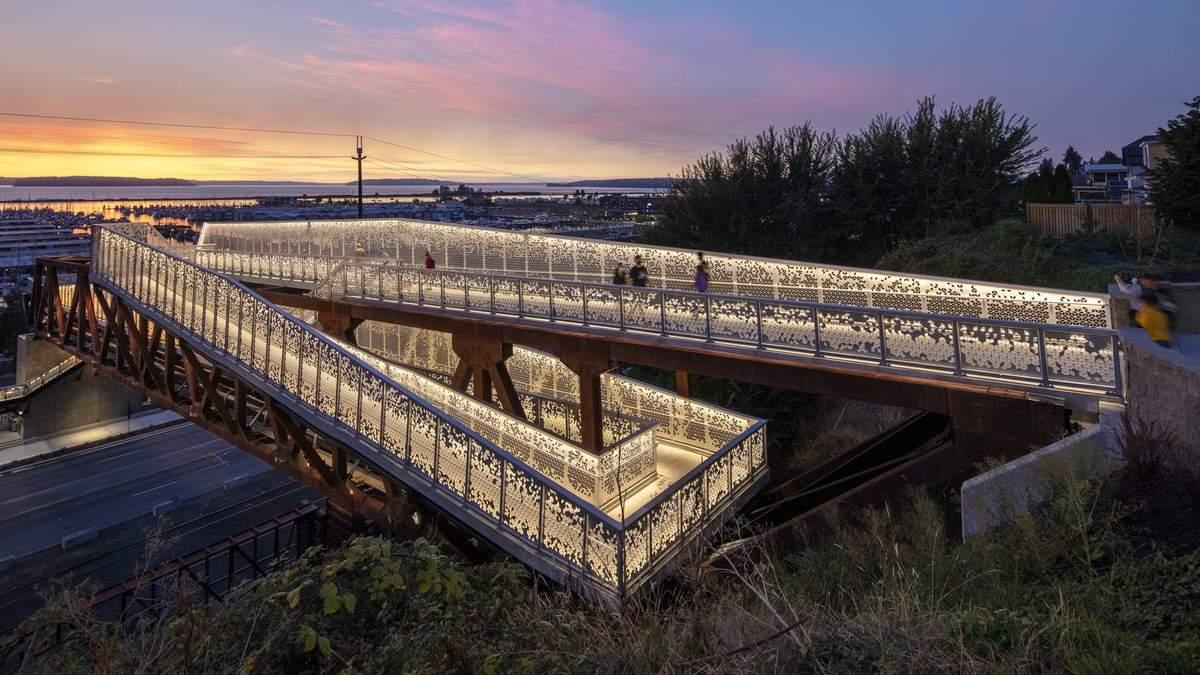 Неоправданное великолепие: в США построили гигантский мост вместо обычных лестниц – фото