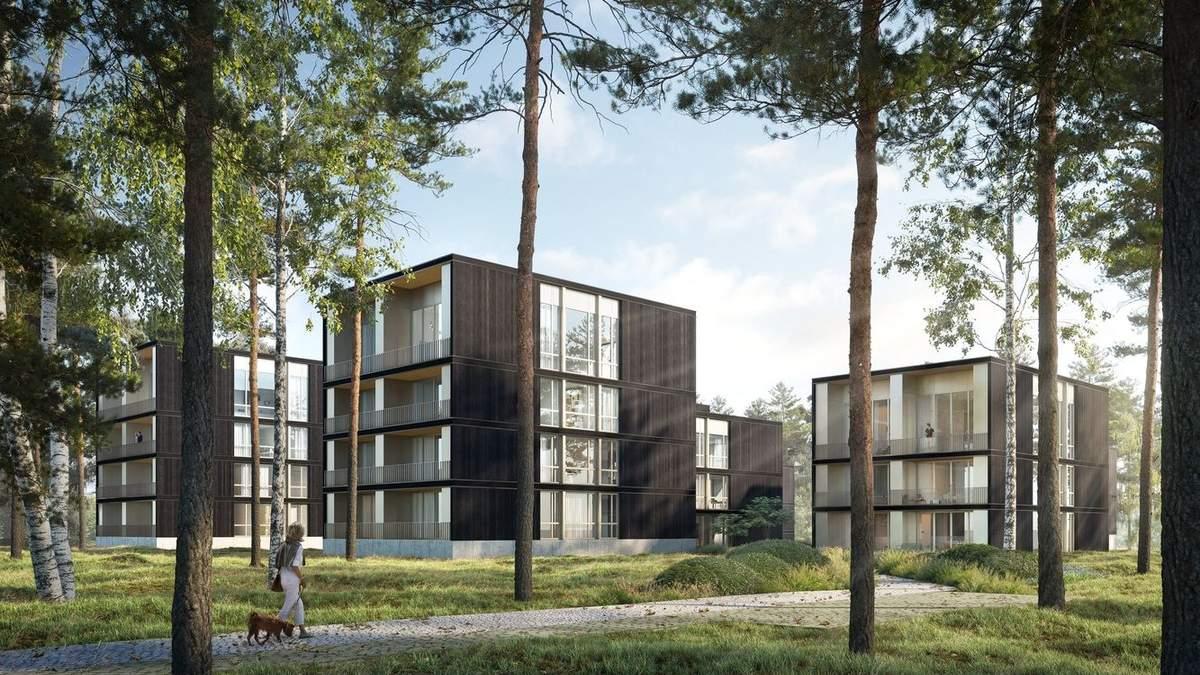 Житловий комплекс мрії: у Німеччині побудують багатоквартирні лісові будинки біля озера
