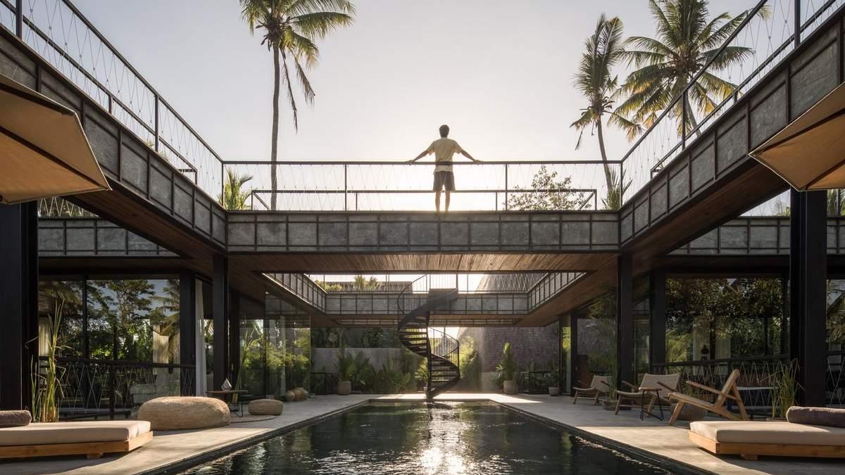 """Дом-крест: в Индонезии построили шикарный дом """"коридорного"""" типа – фото"""