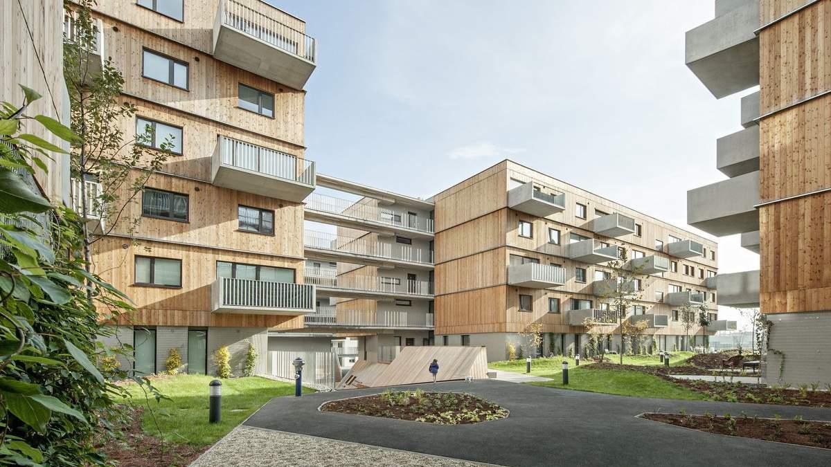 Дерев'яні фасади та величезні балкони: у Відні побудують екологічний житловий комплекс – фото
