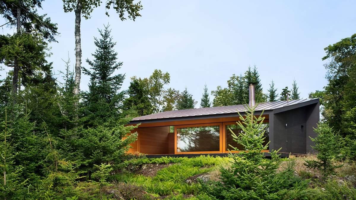 Зачаївся посеред дерев: фото та дизайн одноповерхового будинку на узбережжі США
