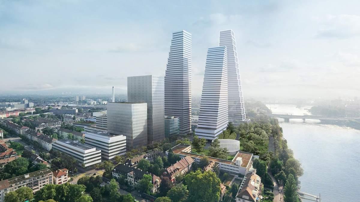 """Швейцарія продовжує """"рости"""": в Базелі побудують бізнес-центр з трьома хмарочосами – фото"""