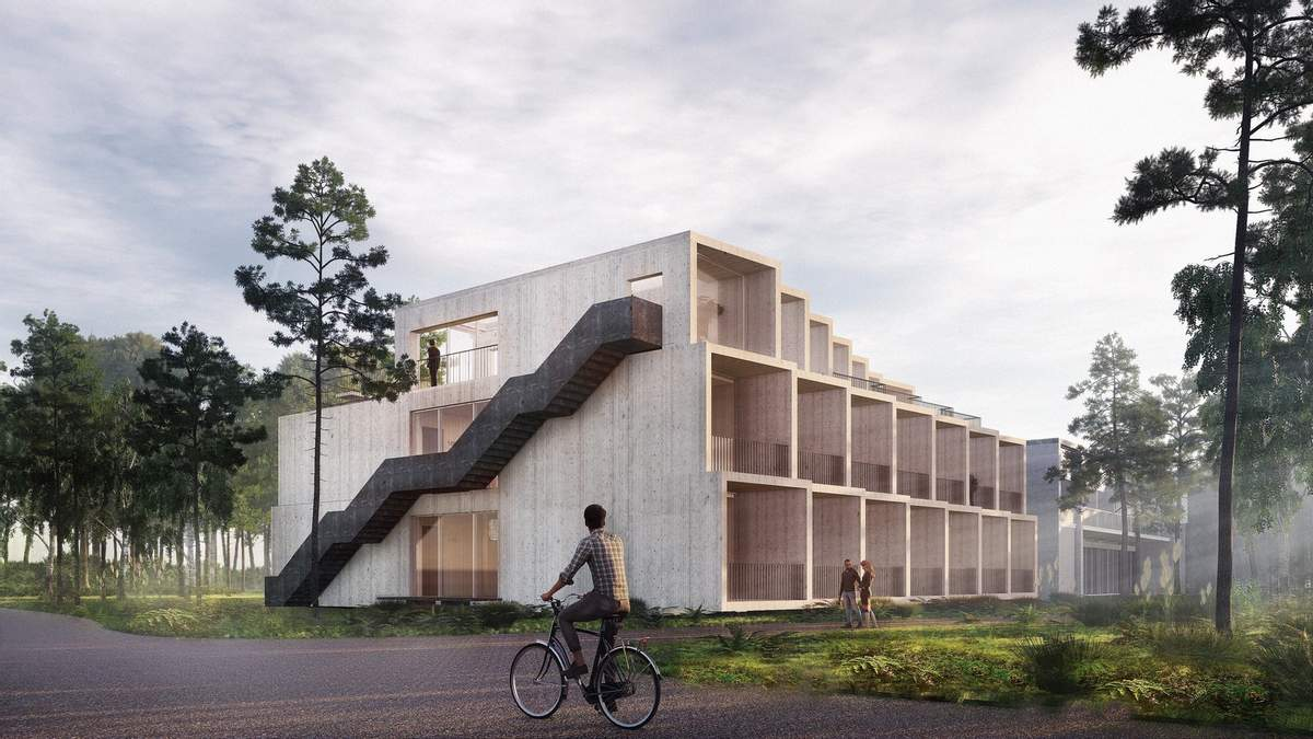 Без сталі та бетону: в Данії з'явиться перший нейтральний до екології готель: фото розробки