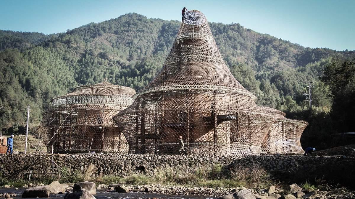 Мов риба у сітці: в Китаї побудували екологічні хостели дивної форми – фото