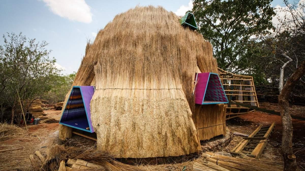 Дитячий садок у будинку з сіна: в Зімбабве побудували незвичну споруду – фото