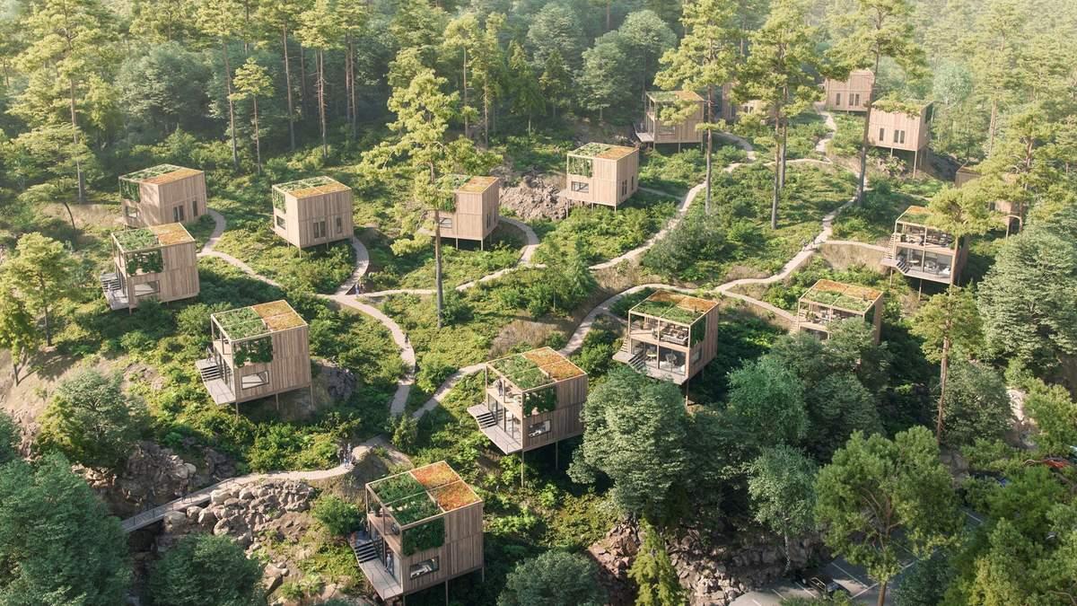 Тільки на своїх двох: в Норвегії розробили екологічний готель, до якого не доїде авто – фото