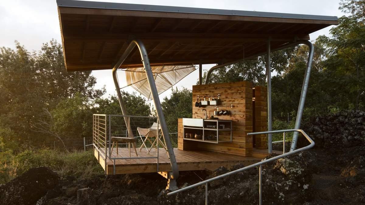 """""""Внешний"""" дом: в США семейная пара вместе живет в двух открытых павильонах – фото"""
