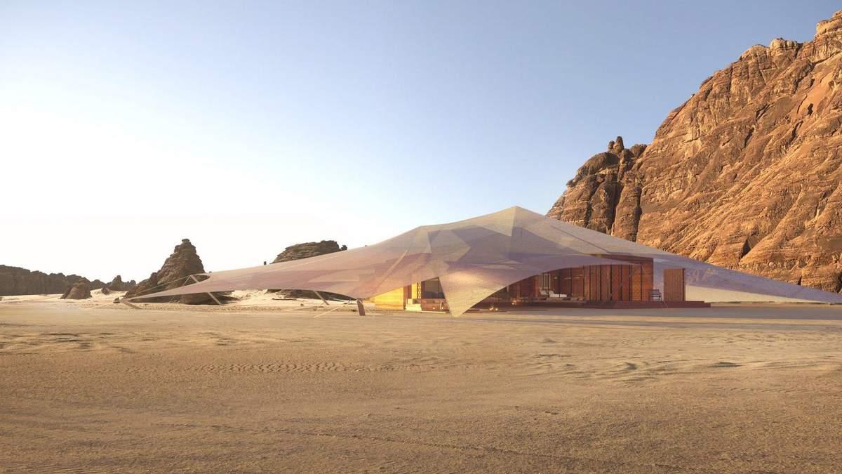 Намет з готельними умовами: в Саудівській Аравії посеред пустелі з'явиться новий курорт – фото