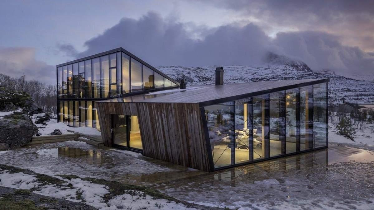 Домик в горах – гостевое здание с видом на горы: фото