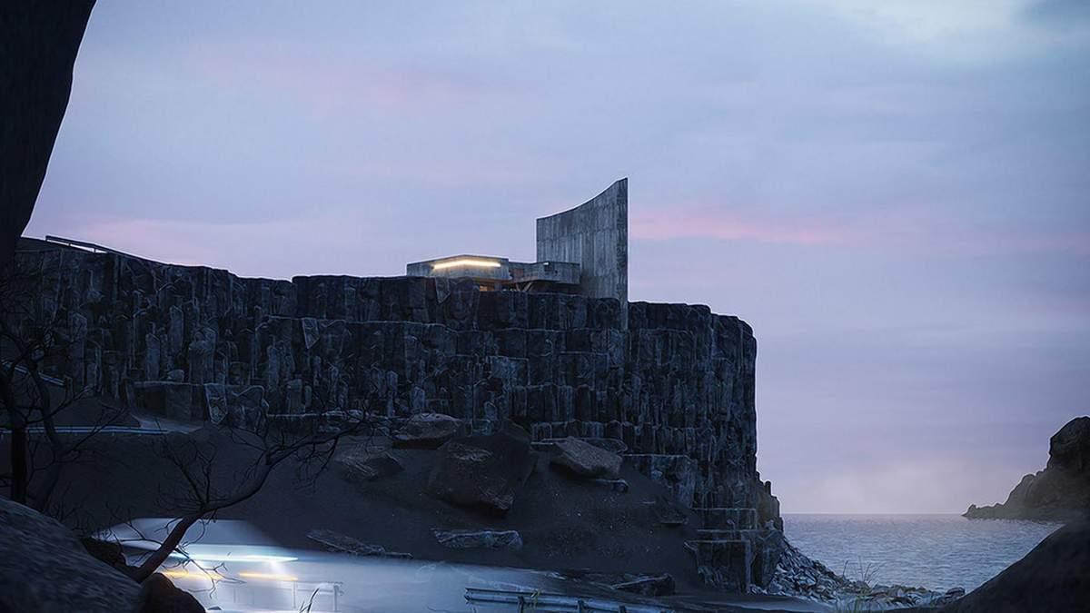 Брутальность бетона: в Исландии построили впечатляющий дом на скале – фото