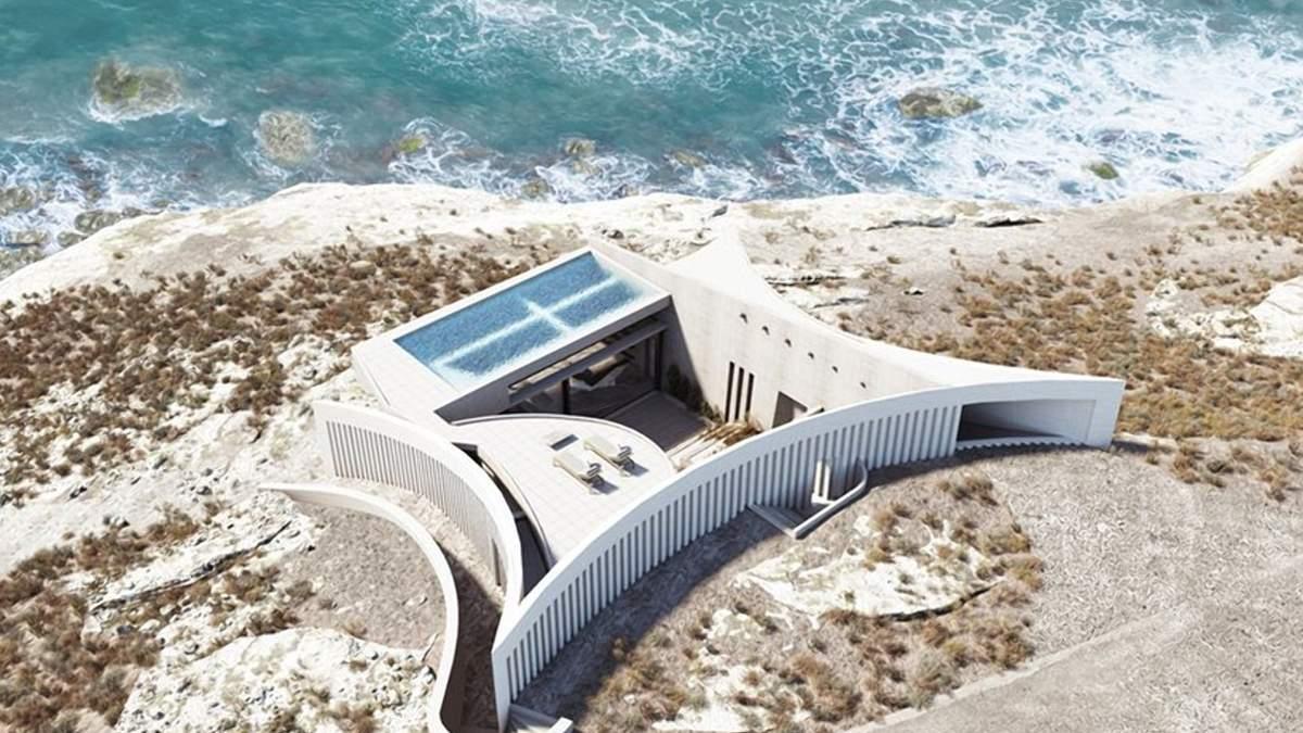 Геометрический дом: фото необычного жилья на греческом берегу
