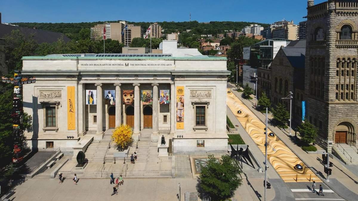 Произведение искусства на проспекте музея: впечатляющие фото оптических дорожек