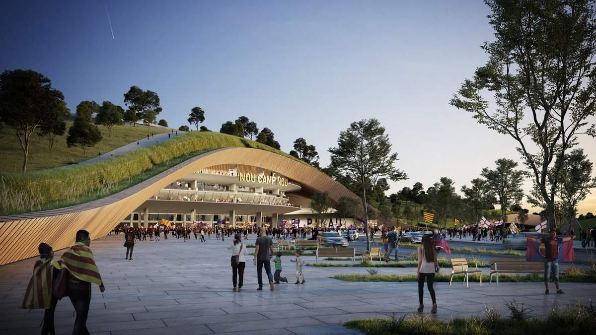 Оазис посреди города: как будет выглядеть новый парк на крыше футбольного стадиона ФК Барселона