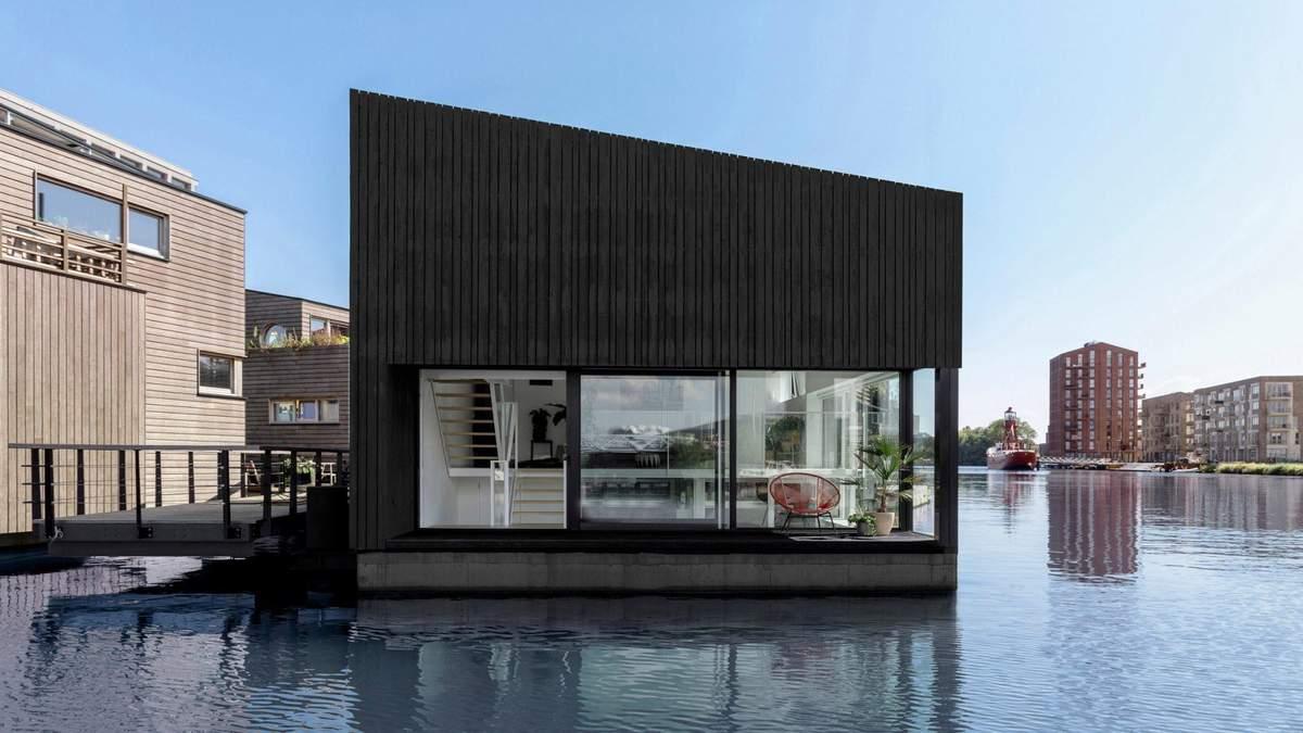 Життя на воді: як виглядає фантастичний новозбудований плавучий дім в Амстердамі – фото
