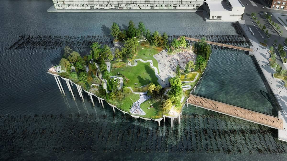 Зеленый остров посреди Нью-Йоркской гавани: фото уникального чудо-парка