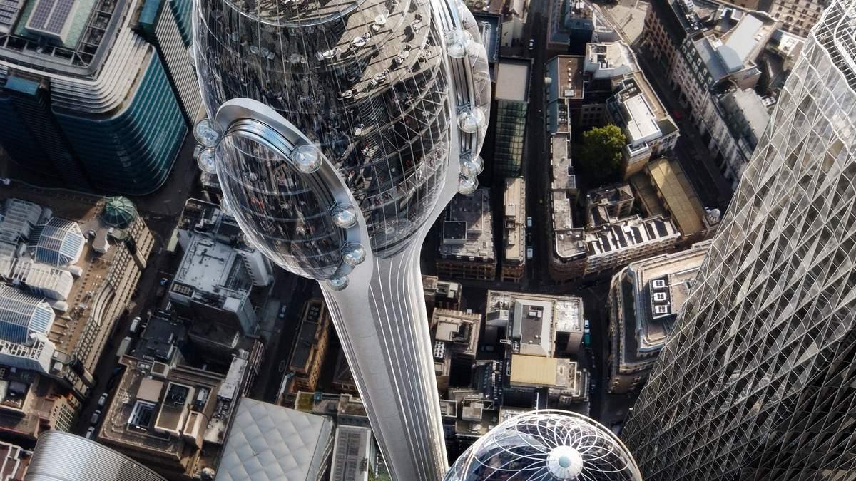 Футуристична вежа-тюльпан / Фото My modern met