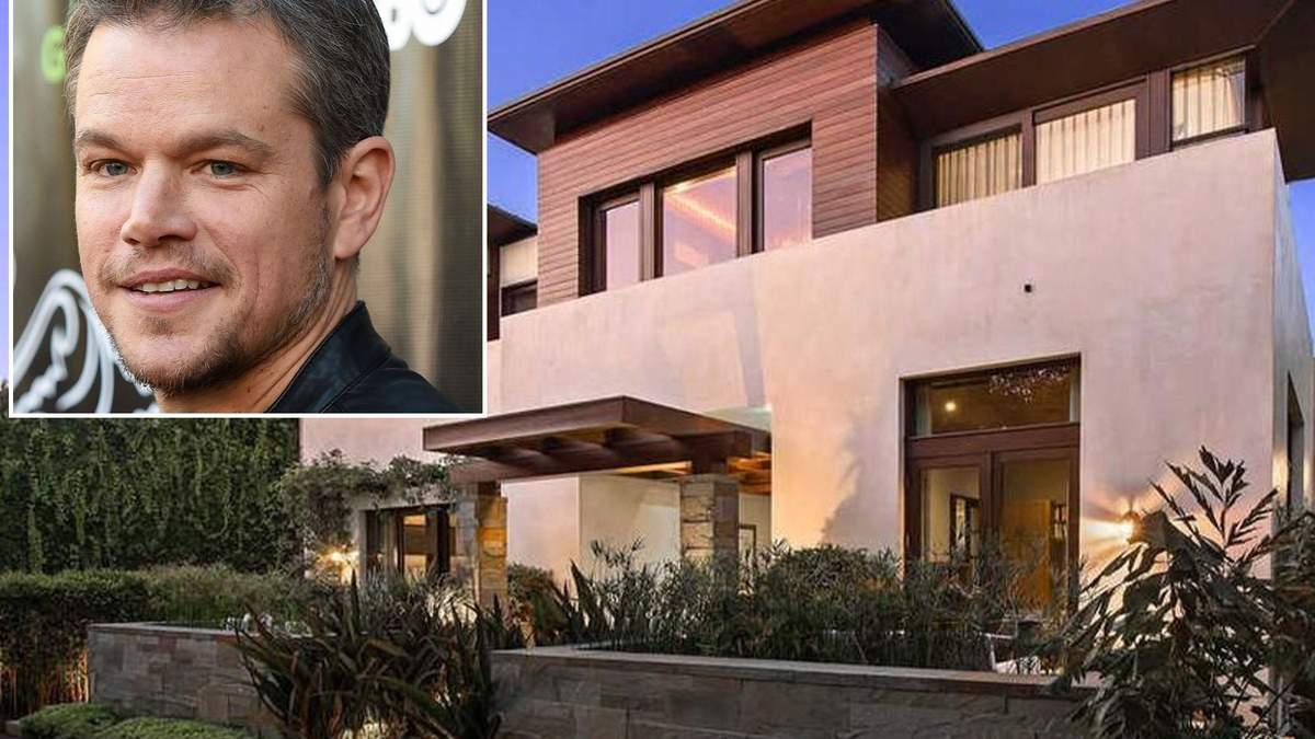 Оскароносний актор Метт Деймон продав розкішну віллу у Каліфорнії за 21 мільйон доларів – фото