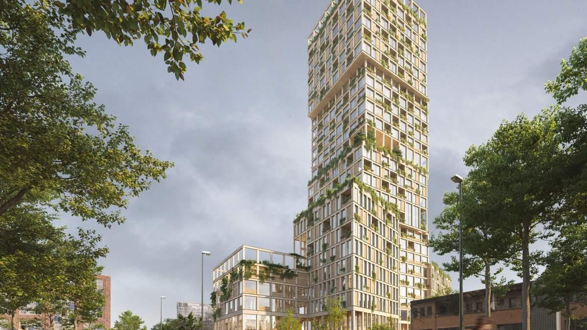 Самое высокое деревянное здание Европы