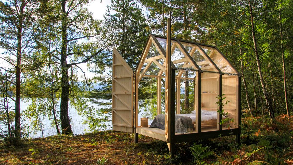 Роскошная стеклянная кабина для отдыха