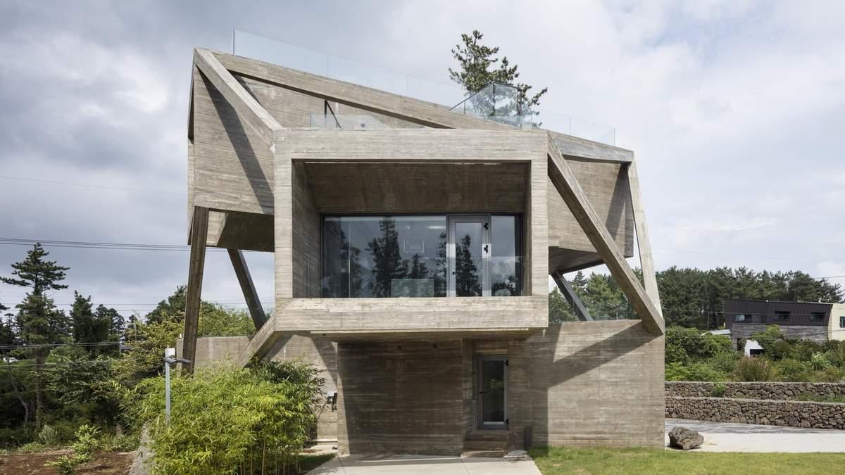 Простота с загадочной геометрией: в Чеджу построили дом, который поражает формой
