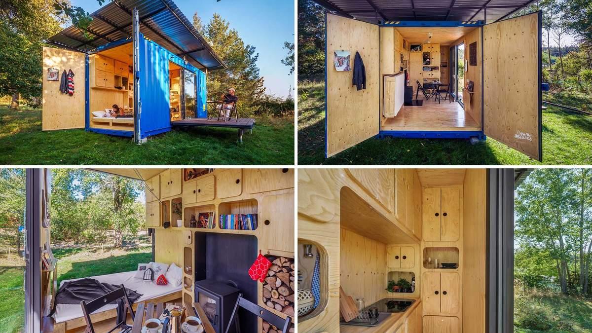 Повторне використання: дім з транспортного контейнера, який дивує затишком – фото та відео