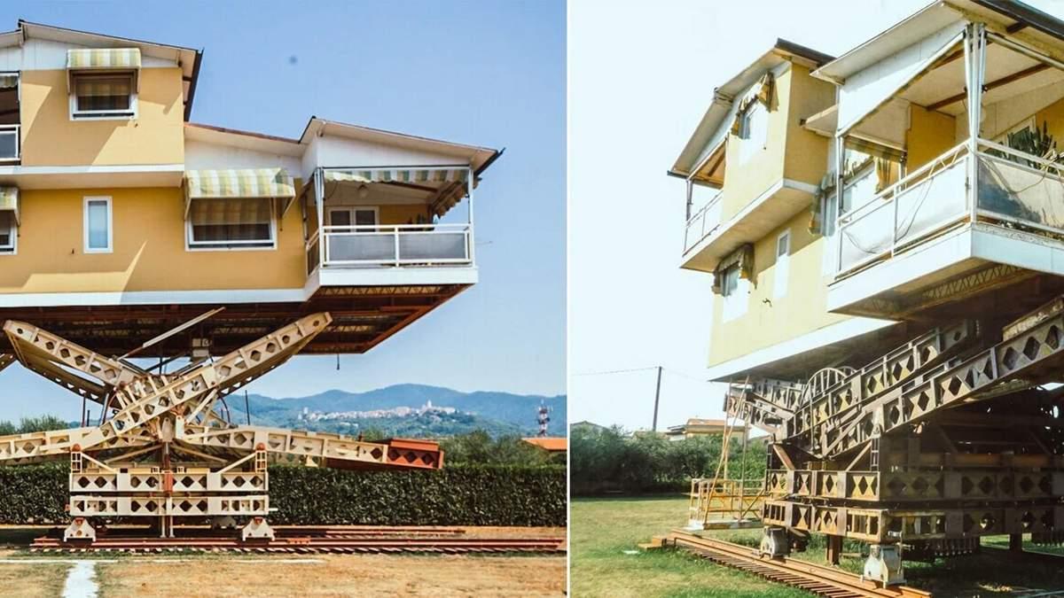 Дім, що витає у повітрі: як виглядає летючий будинок в Італії