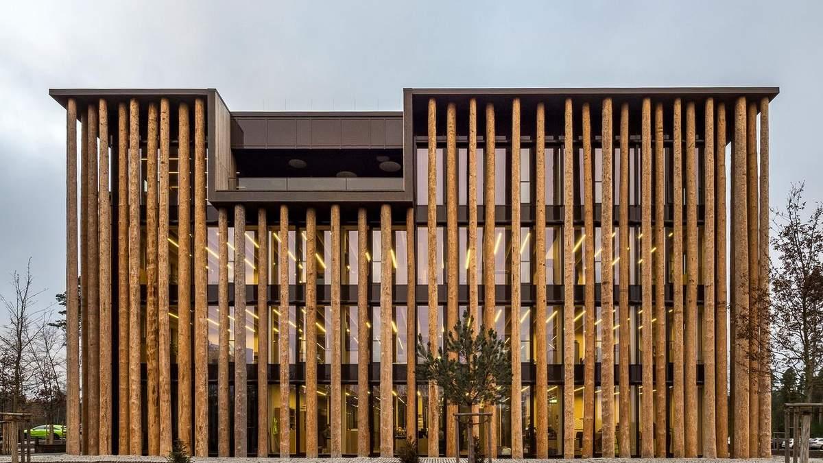 Работа на природе: вариант шикарного лесного офиса в Германии