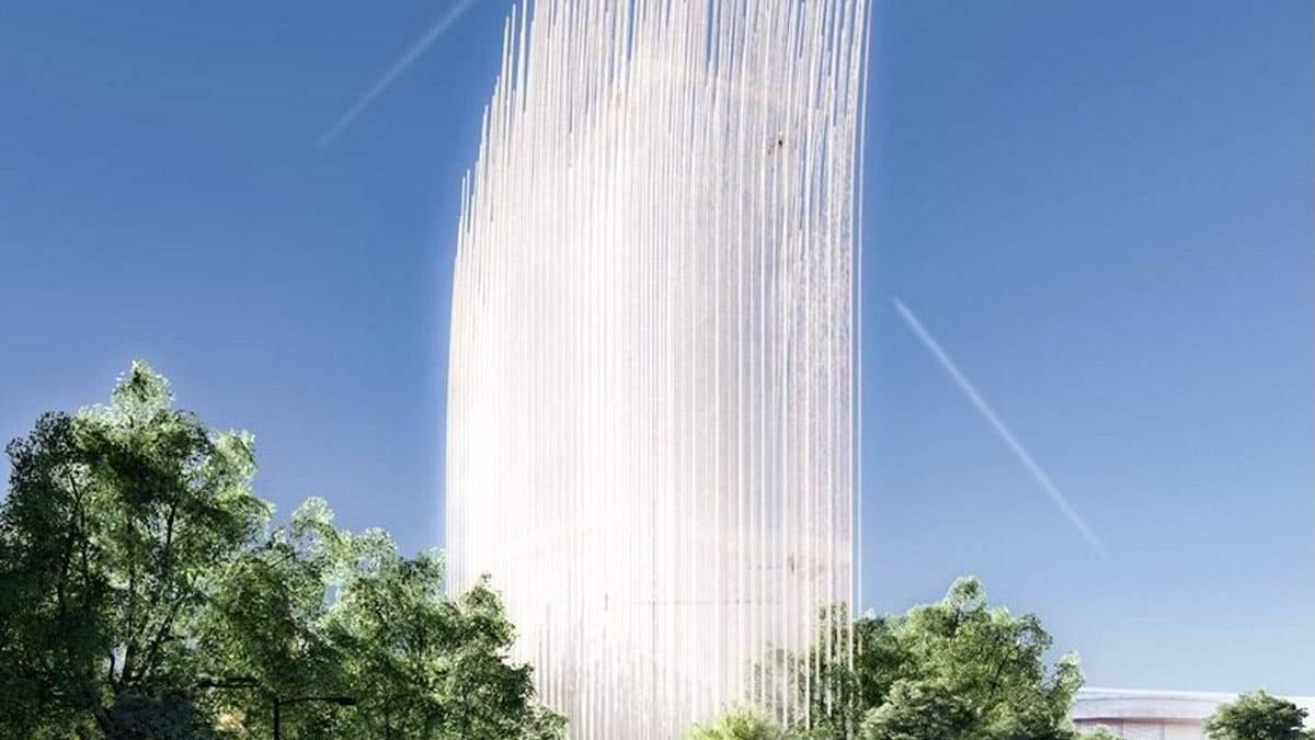 Башня, которая работает от ветра: строительство уникального сооружения в Кремниевой долине