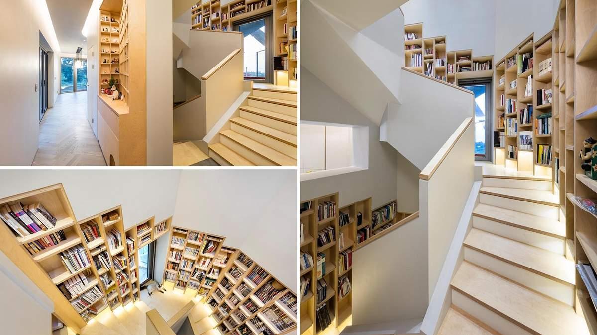 Книжкова полиця на весь будинок: чудовий дизайн дому для книголюбів