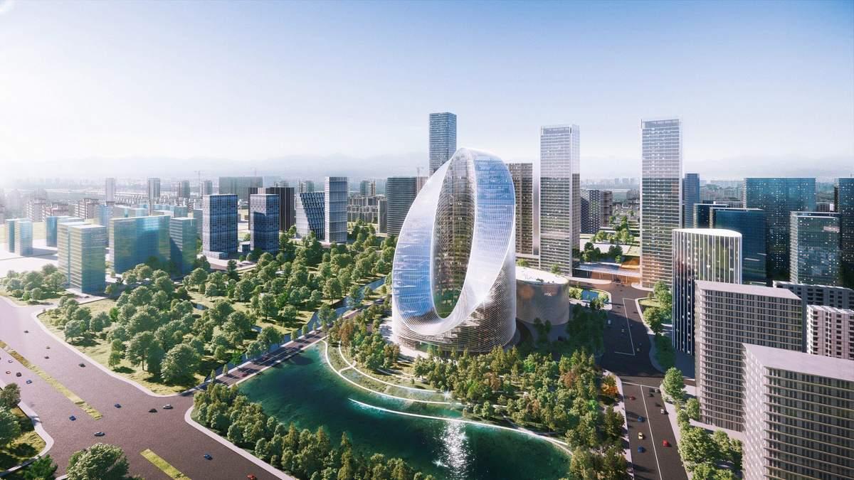 Магічне око: інноваційний хмарочос для китайського виробника смартфонів