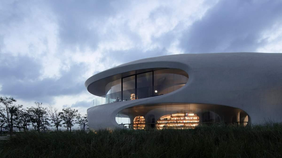 В волнах познания: в Китае построили потрясающую библиотеку
