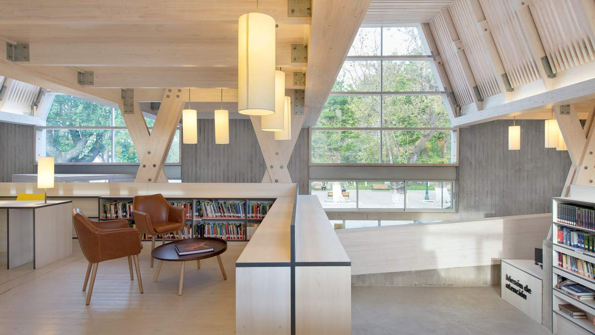 Функціональний затишок: у Чилі побудували неймовірну публічну бібліотеку