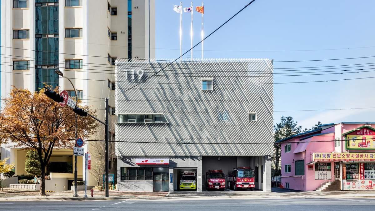 Максимальная функциональность: пожарная часть в Южной Корее, которая стала частью района