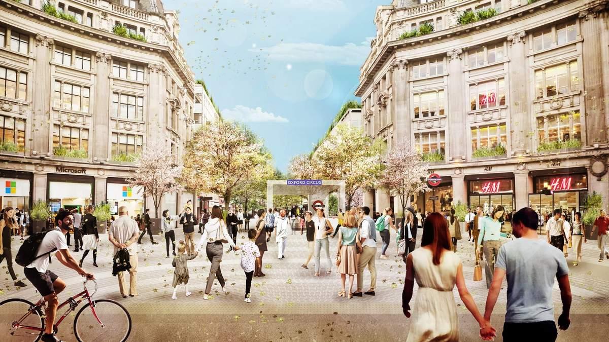 Конкурент Таймс-сквер: у Лондоні оновлять площу станції метро Oxford Circus