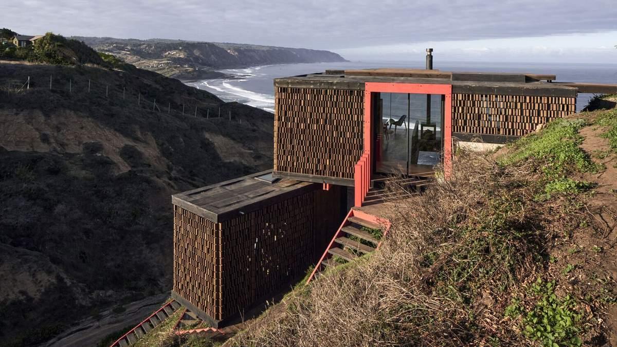 Дивовижна геометрія з видом на океан: як виглядає будинок в Чилі, що збудований на скелі