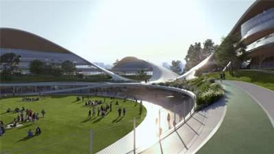 Сусідство з найбільшим парком мегаполіса: неймовірний громадський центр у Китаї
