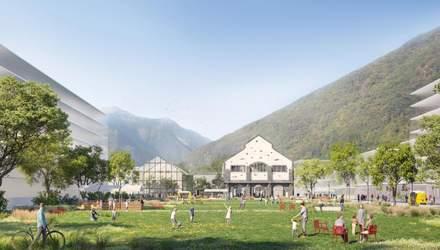 """""""Зеленый километр"""": в альпийском городке промышленную зону превратят в коммерческий парк"""