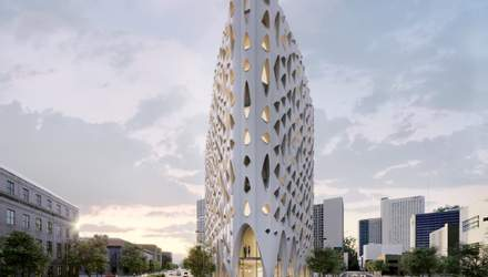 Филигранный фасад со сказочными окнами: новый дизайн отеля в Денвере – фото