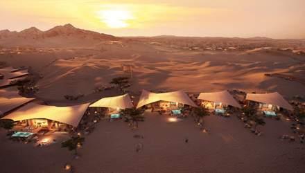 Удивительный отдых в пустыне: сказочный отель в песчаной дюне Саудовской Аравии