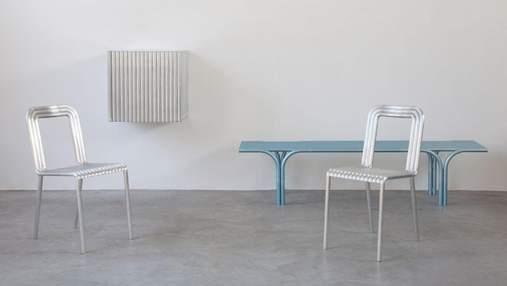 Бельгийские дизайнеры создали коллекцию мебели для дома из алюминиевых труб – фото