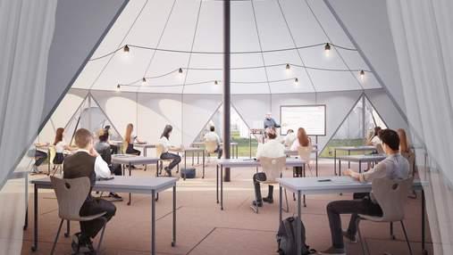 Обучение в палатке: в Лондоне разработали дизайн школьного класса с соблюдением дистанции – фото