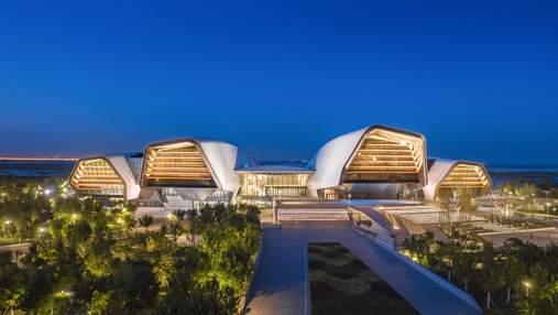 Архитектура Китая: морской музей в виде перевернутых кораблей – фото