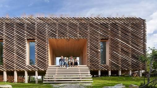 Даже ручка от холодильника: фото полностью деревянного дома из Норвегии
