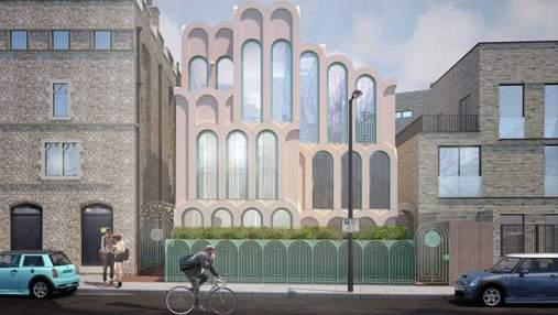 В Лондоне построят дом, который полностью составлен из розовых арок – фото