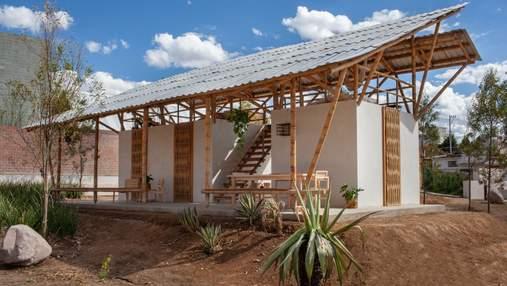 """Традиционное жилище: в Мексике построили """"открытый"""" дом с гамаком – фото"""