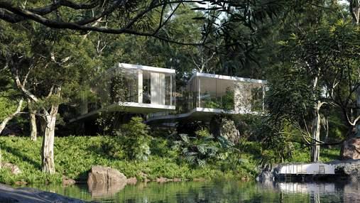 Модернизм и лес: в Бразилии появился роскошный дом, который поддерживают камни – фото