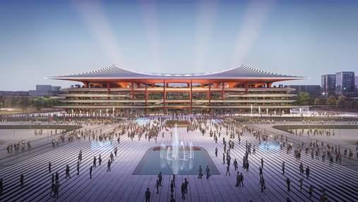 Невероятный проект стадиона в Китае от архитекторов Захи Хадид –впечатляющие фото